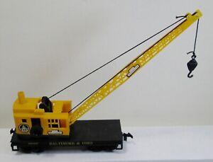 Vintage HO Scale Life-Like Baltimore & Ohio #2136 Browning Crane