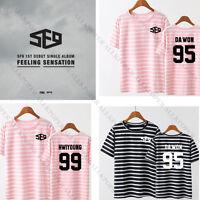 Kpop SF9 Feeling Sensation Stripe T-shirt Unisex DAWON HWIYOUNG Tshirt Cotton