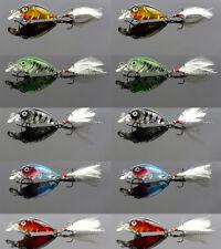10x PFS Mini Hardbody Crankbaits Shallow Diving Fishing Lures Bream Bass 35mm 3g