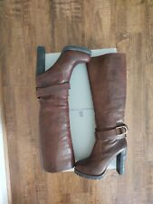Stunning shearling lined mocha brown tall Brunello Cucinelli boots 6.5