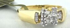 Genuine 0.38 Cts Diamonds 14k Yellow Gold Ring
