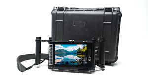 """SmallHD MON-703U UltraBright  7.2"""" Field Monitor w/ Wooden Camera Cage V3 + peli"""