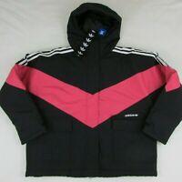 Adidas Originals Women's Iconic Winter Snow Jacket Black Pink FQ2414 Small $220