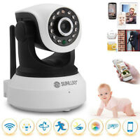CCTV Wireless Wifi 720P HD H.264 P2P IP Network IR Security Camera Cam P/T White