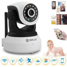 CCTV Wireless Wifi 720P HD H.264 P2P IP Network IR Security Camera Cam P/T White