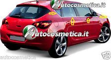 MODANATURE ACCIAIO INOX OPEL ASTRA HB J 2010-2014 CORNICE FINESTRINI CROMATA