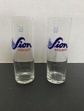 Sion Kolsch Stange German Beer Glass 0.2 Liter Lot Of 2 Glasses