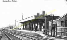 Saxmundham Railway Station Photo. Wickham Market to Darsham and Aldeburgh. (12)