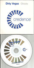 DIRTY VEGAS Ghosts w/ RARE RADIO EDIT Europe Pressing PROMO CD Single USA Seller