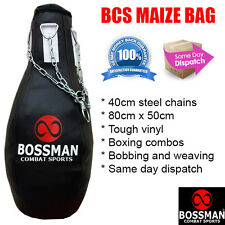 BCS MAIZE PUNCHING BAG - boxing punch hook jab bob and weave combinations combo