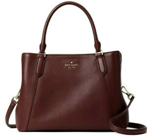 New Kate Spade Jackson Medium Satchel Leather Cherrywood
