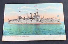1909 Uss New York Armored Cruiser Post Card