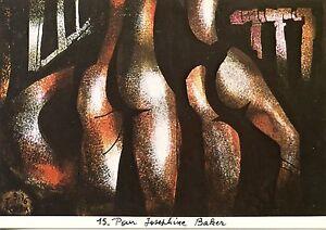 CARTE POSTALE ILLUSTRATEUR JEUDY POUR JOSEPHINE BAKER /  ART