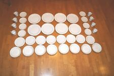 SAKURA CLASSIC GOLD 1998 DINNERWARE PLATES MUGS BOWLS LOT OF 40 SERVICE FOR 8