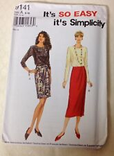 SIMPLICITY So Easy Skirt, Top, pattern #9141 Misses Size 6-16 UNCUT