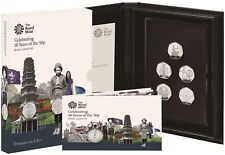 More details for 2019 celebrating 50 years british culture 50p fifty pence proof 5 coin box coa