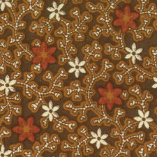 Civil War Crossings Chocolate Brown 8127 13  by Barbara Brackman for Moda