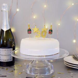 PREMIUM 3D 30th Milestone Cake Candles, Birthday Cake, Cake Topper