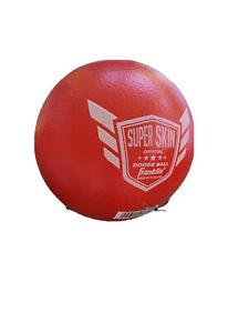 "Franklin SuperSkin 6"" Red Game Ball Playground Gym Dodgeball Polyurethane Foam"