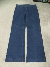 Levi's Dark Blue Stretch Denim Flare Bottom Jeans, sz 10M