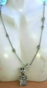 Lot of 2 Silpada Raindrop necklace and Uptown cz filigree pendant New!