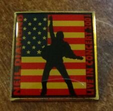 NEIL DIAMOND Lapel Pin Enameled Metal 2001 AMERICAN FLAG Live in Concert