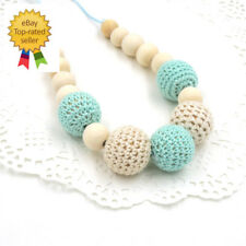 crochet beads Baby Teething necklace Breastfeeding mom Beauty Teeth Pain Relief