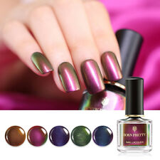 BORN PRETTY 6ml Chameleon Nail Polish Shimmer Nail Art Varnish Black Base Needed