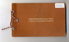 1973 ITALIA libretto ufficiale Amministrazione poste e telecomunicazioni