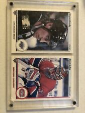 Wayne Gretzky And Patrick Roy 1990-91 Upper Deck Promos #241A And #241B