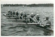 112. Rowing Eights Team of Italy Italia Training OLYMPIC GAMES 1936 CARD
