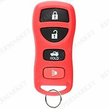 Replacement for Nissan 02-06 Altima Maxima 05-15 Armada Remote Key Fob Red