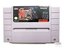 Contra III 3 The Alien Wars - SNES Super Nintendo Tested & Working - AUTHENTIC!