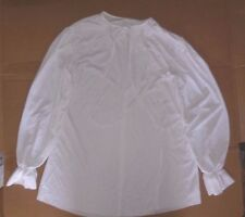 NWOT White Smock Dance Costume theatrical Tie Front Crepe Small Adult