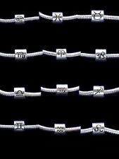 Zodiac Charm horoscope spacer Star Bead European Bracelet Silver beads charms UK
