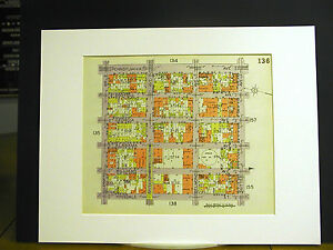 Brooklyn Map 1929 Matted SUTTER GLENMORE PENNSYLVANIA HINSDALE WILLIAMS GEORGIA