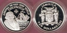 1990 Jamaica Large Sterling Silver Proof $10-Columbus/Ship