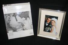 Burnes of Boston Wedding Photo Frame Religious Christian Matted Cross & Rings