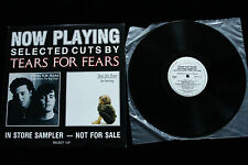 Tears for Fears IN STORE SAMPLER LP - EX WHITE LABEL PROMO 1985 POLYGRAM RARE!