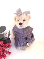 Teddy Bear VTG 1997 Ganz Cottage Collectibles Becky Country Farmhouse Girl Bear