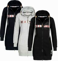 Geographical Norway Damen Sweat jacke Kapuzenpullover Sweater übergangsjacke NEU