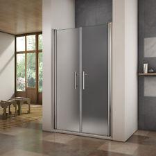 120x195cm Porte de douche pivotante paroi de douche sablée verre anticalcaire