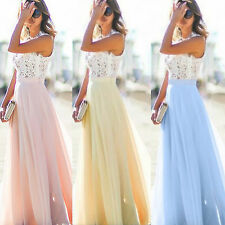Women Wedding Bridesmaid Cocktail Evening Party Prom Gown Long Maxi Dress