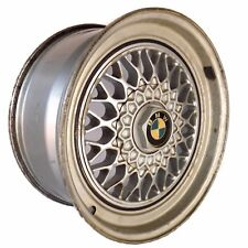 "BMW Cross Spoke Wheel Rims Fit Alloy Old Vintage Silver E30 OEM Original 17"" (2)"