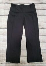 Lululemon Sz 6 Black Capri Exercise Pants Yoga Fitness