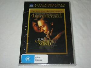 A Beautiful Mind - 2 Disc Awards Edition - Brand New & Sealed - Region 4 - DVD