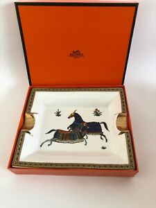 CIGAR ASHTRAY | TWO HORSES | VINTAGE | MADE IN FRANCE - (HERMES)