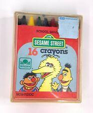 Vintage Golden Sesame Street NonToxic Crayons 16 Count Big Bird, Bert, and Ernie