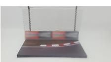 FRG 1:43 B/B Curved F1 Model Track Diorama Base Crash Barrier & Safety Fencing