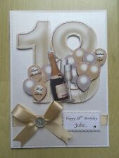 Luxury Hand-Made 18th Birthday Card-Can Be Personalised-Any Relative/Friend